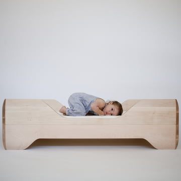 Low Toddler Bed with Wooden Frame