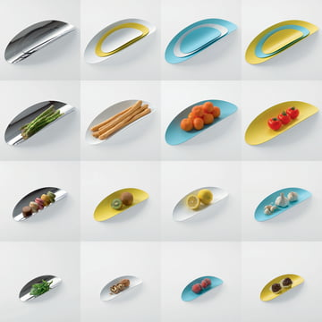 Ellipse bowl set by Alessi
