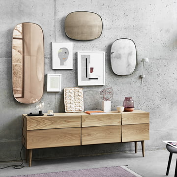 The Framed mirror in large and small
