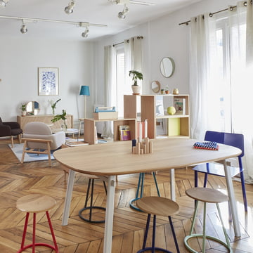Céleste Dining Table and Gustave Stool