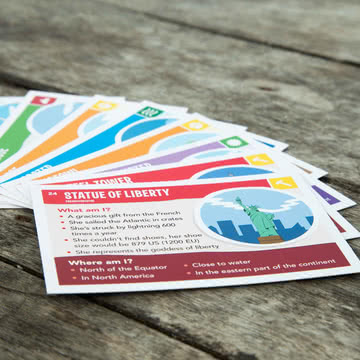 Kids Map Expedition card game by Awesome Maps