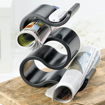 Bottle rack as a newspaper holder