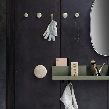Folded Shelf with Wall Hooks