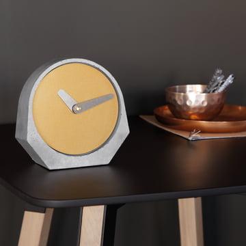 Konstantin Slawinski - Theda Table Clock in Pearl Gold
