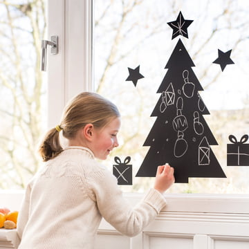 Chalkboard Christmas Tree for Decorating Purposes
