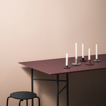 Mingle Table Top and Trestle with Cast Iron Candle Holder
