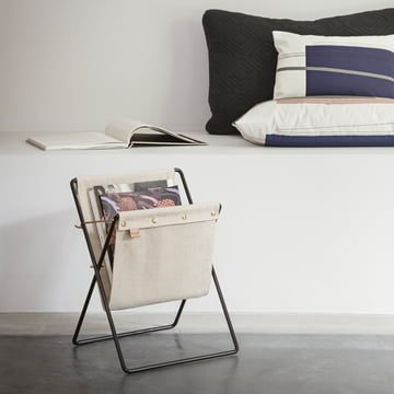 Herman Magazine Stand with Colour Block Cushion