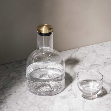 Bottle Carafe with brass Lid by Menu