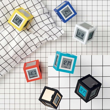 Cubissimo LCD Alarm Clock by Lexon