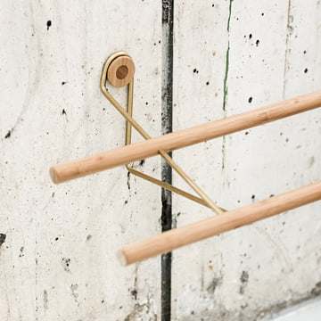 Shoe Rack by We Do Wood out of Bamboo and Brass