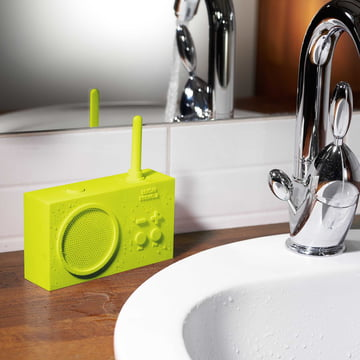 Lime Green Tykho 2 Radio from Lexon