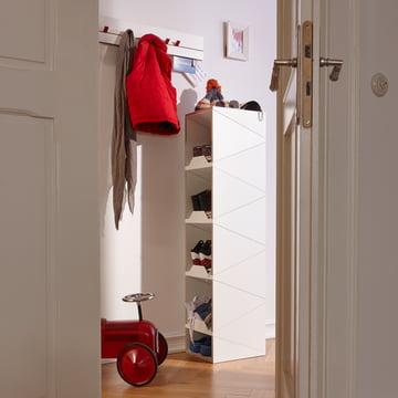 emform - Shustack shoe cabinet Eight, white / white
