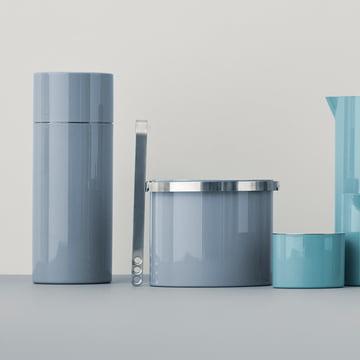 Stelton - Cylinda Line insul. ice bucket 1 l, smokey blue (50th anniversary edition)