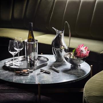 Georg Jensen - Manhattan wine cooler, bowl, corkscrew, bottle opener, tray, wine stopper, wine pourer, coasters