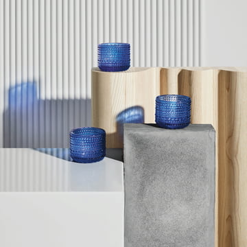 Kastehelmi votive 64 mm by Iittala in ultramarine blue