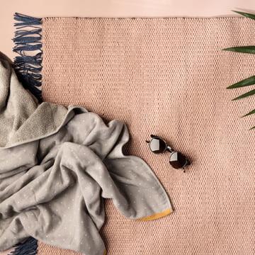 ferm Living - Nomad Rug, rose
