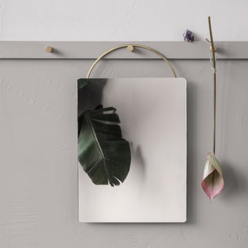 Adorn brass mirror by ferm Living