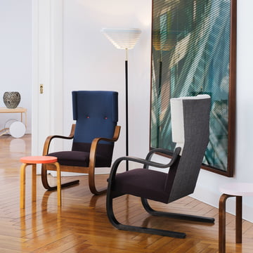 Angel Wing A805, Armchair 401 and Stool 60