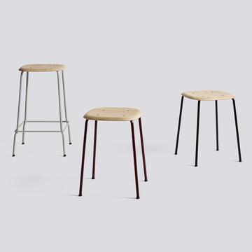 Soft edge stool by hay in different versions
