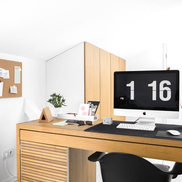 Home Office with Book Hook and Pin Board