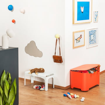 Kids Bench, Storage Box, Wall Hooks by Tolix