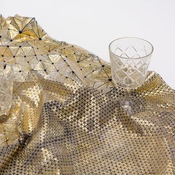 Mika Barr - Tamara Table Runner, 220 x 50 cm, gold / black