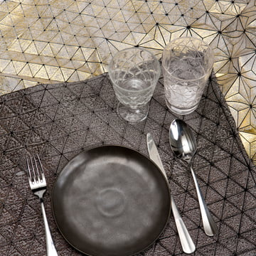 Mika Barr - Ilay Tablemat, 50 x 40 cm, black