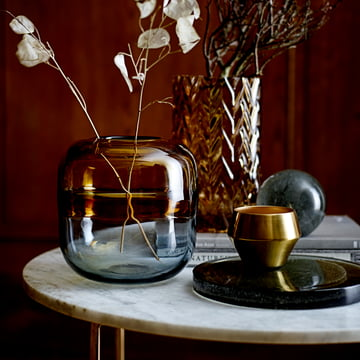 Tray, Decorative Orb, Tea Light Holders, and Glass Vase by Bloomingville