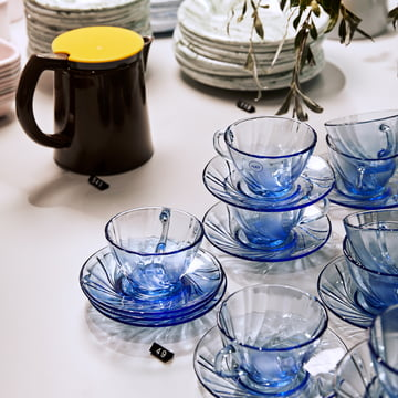 The Sowden Coffee Maker and Duralex Coffee Cup with Saucer by Hay.