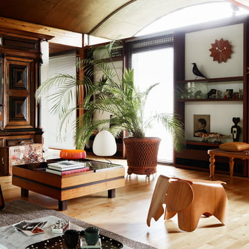 Nelson Fan Clock, Eames Elephant and Eames House Bird by Vitra