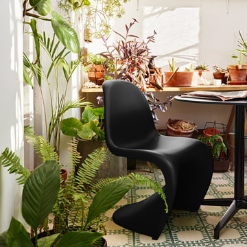 Panton Chair by Vitra in basic dark