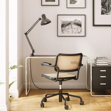 Swivel chair with five-star frame for the office