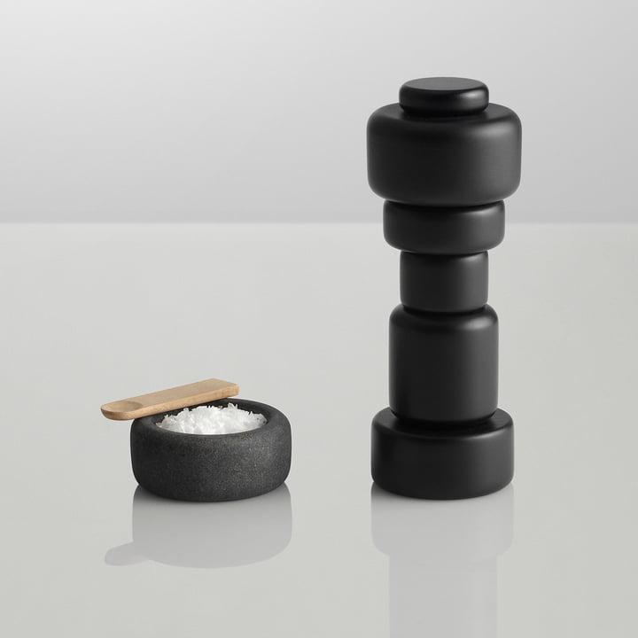 Muuto One salt jar, dark grey