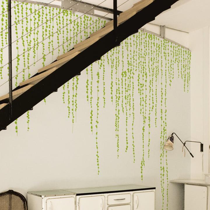 Domestic - Jungle Peas Wall Stickers, green