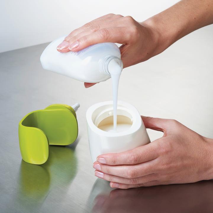 Joseph Joseph - C-pump soap-dispenser, white/ green - filling