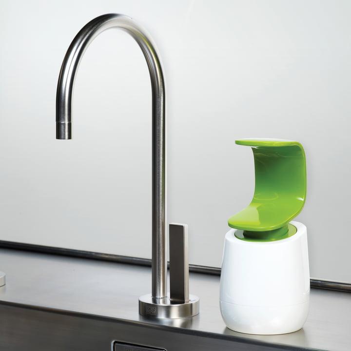 Joseph Joseph - C-pump soap-dispenser, white/ green