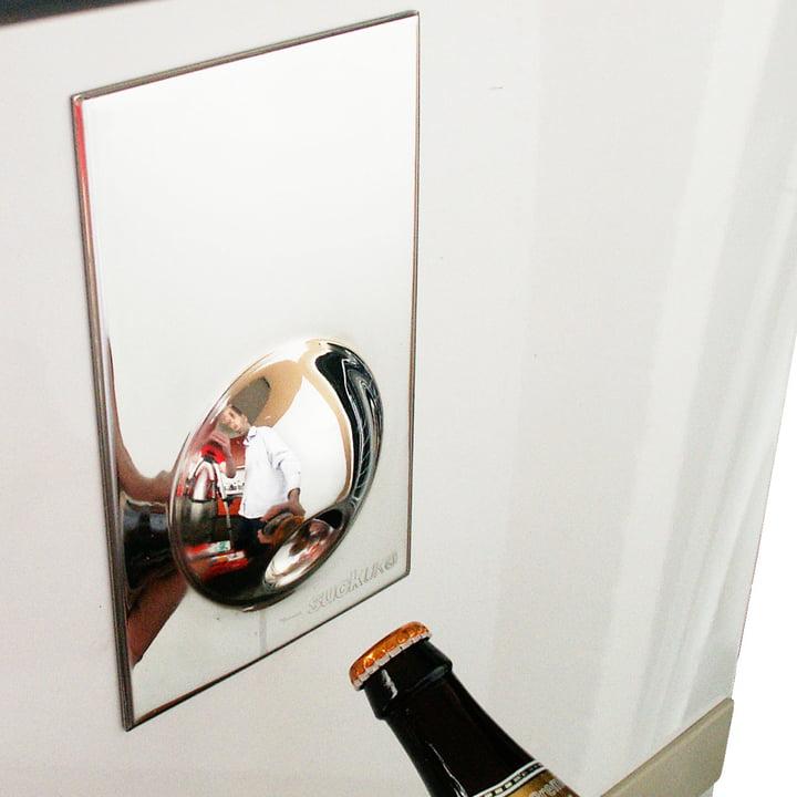 Suck UK - Bottle Opener Fridge Magnet, silver - at the fridge