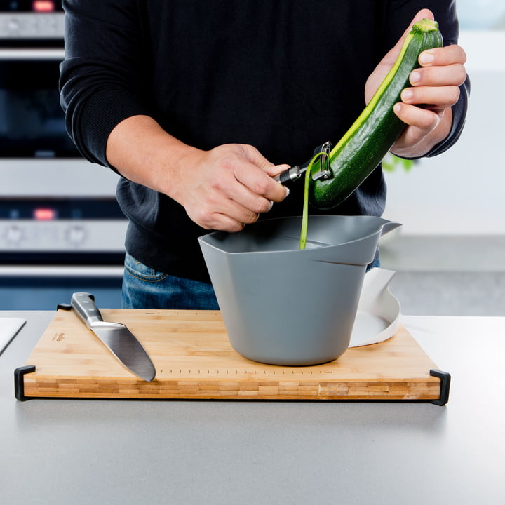 Royal VKB - Chop Organizer, white - peeling vegetables