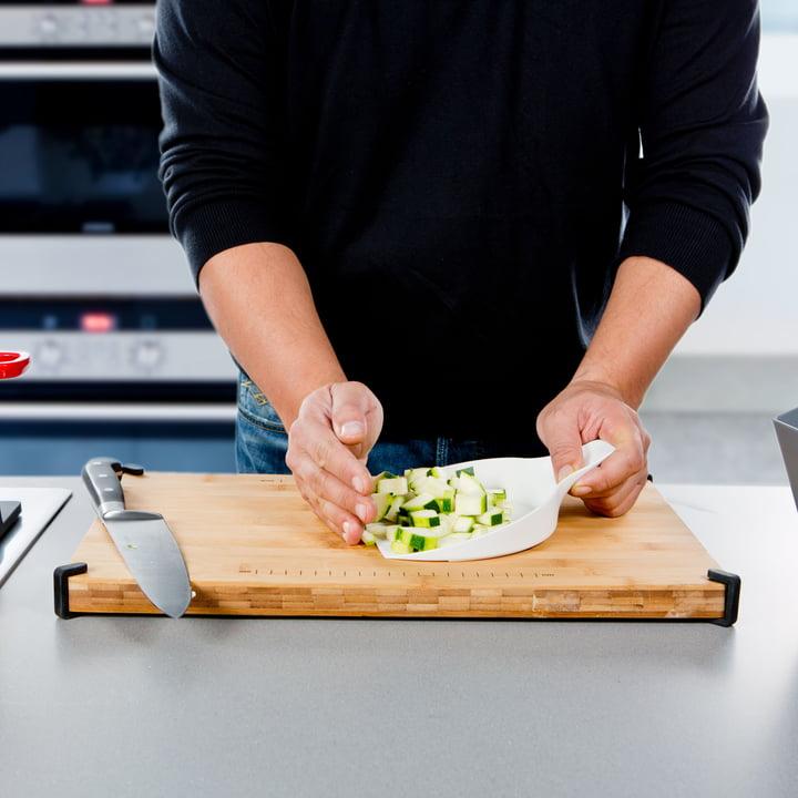 Royal VKB - Chop Organizer, white - vegetables on lid