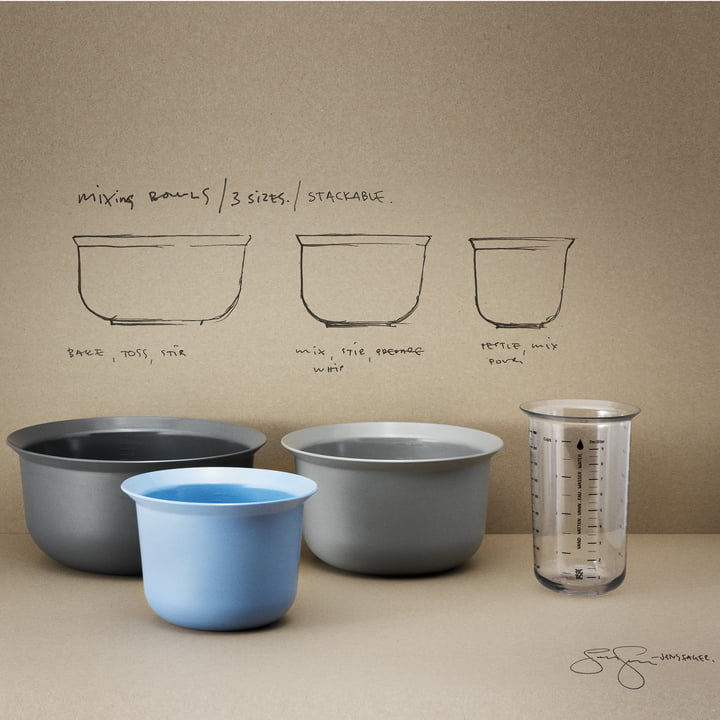 Rig-Tig by Stelton - Measuring cup, 1L / mixing bowls