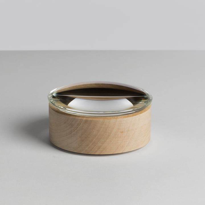 Hay - Lens Box / Lid, Ø 10, maple, glass