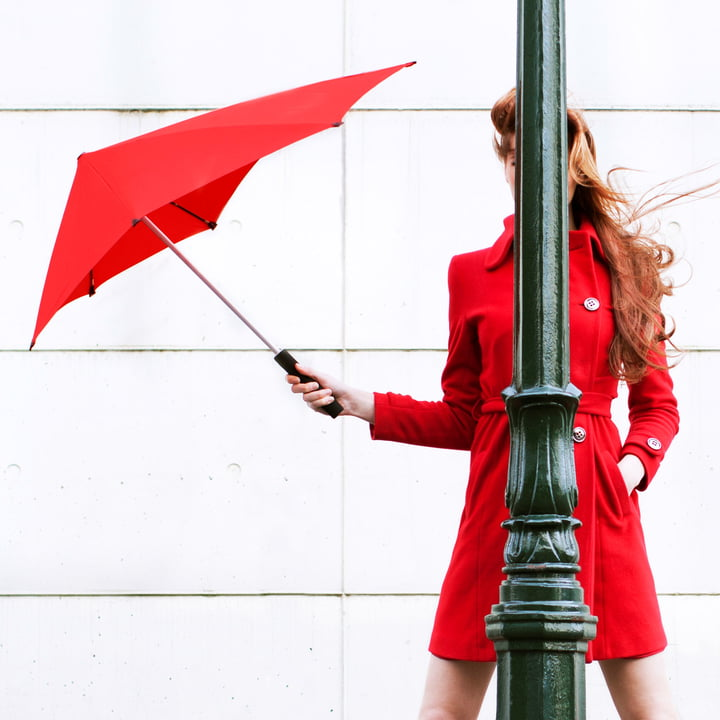 Senz - collection 2014, lady in red with umbrella
