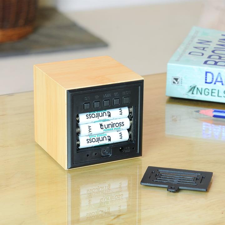 Gingko - Cube, LED violet, batteries