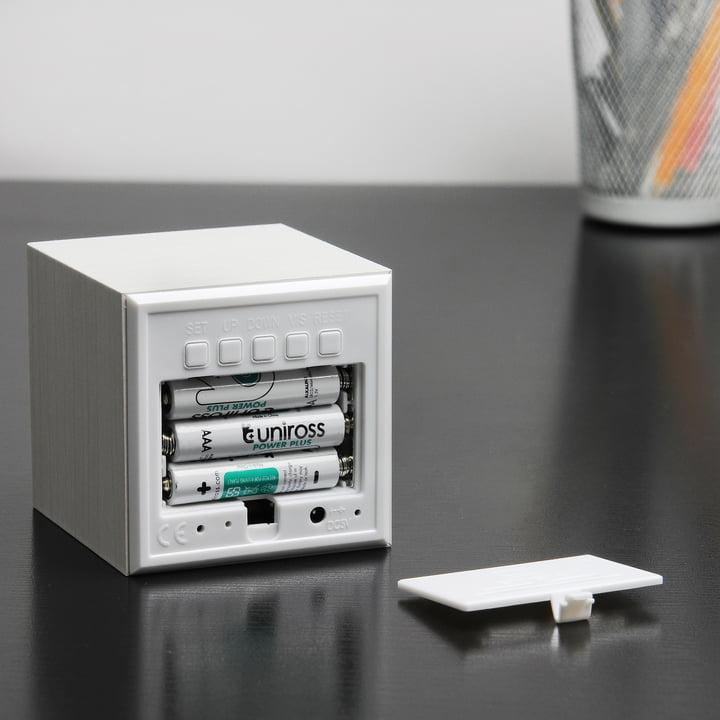 Gingko - Cube, white / LED white, batteries