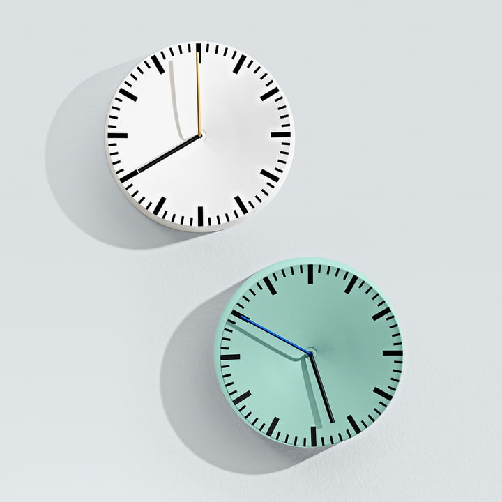 Hay - Analogue Clock, mint, white