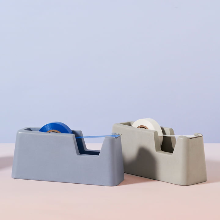 areaware - Concrete Tape Dispenser small, blue, grey