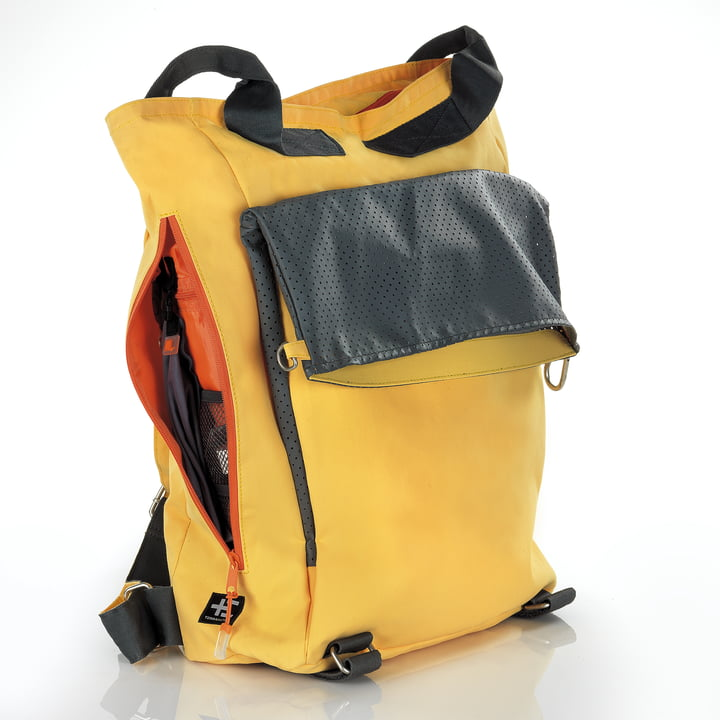Backpack with various features