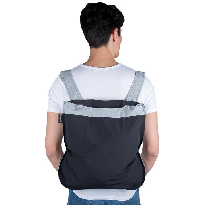 Notabag - bag and rucksack, grey / black