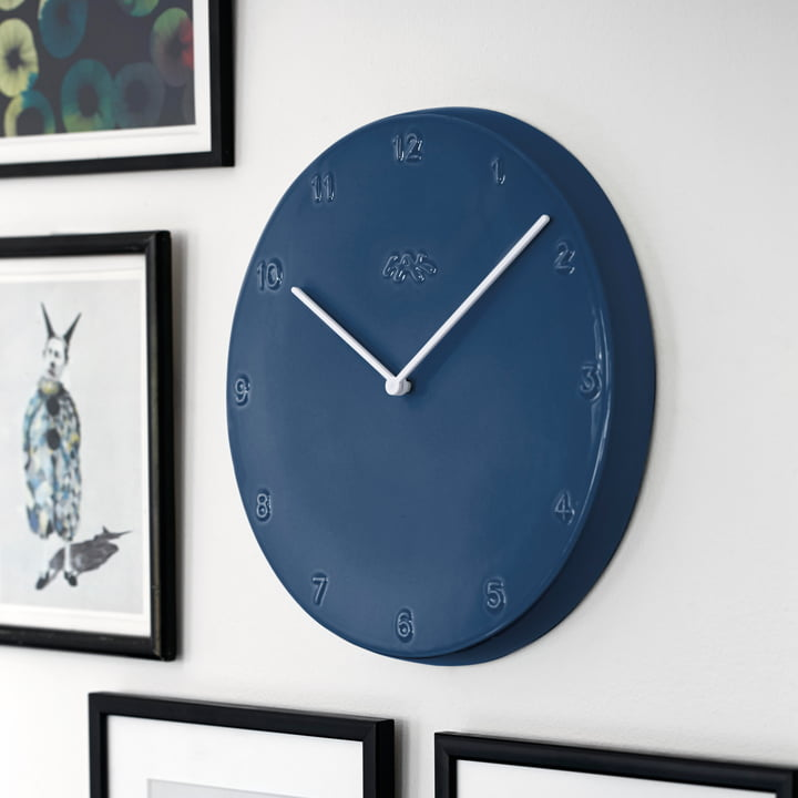 Kähler design - Ora wall clock 30 cm, blue