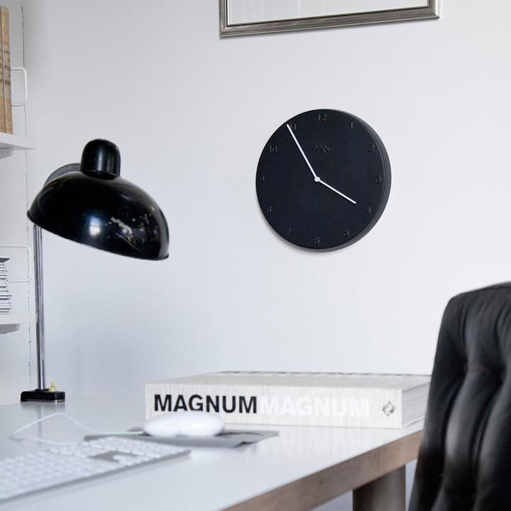 Ora wall clock in black